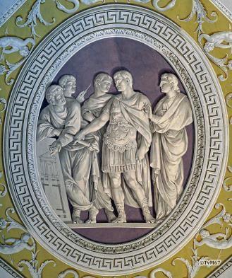 Augustus ziet het plan voor de Ara Pacis