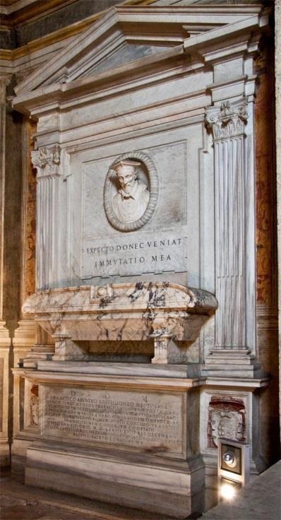 Cappella Montemirabile, monument van kardinaal Francesco Castiglione (rechts)