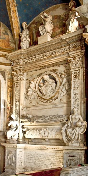 Chiesa di Santa Maria del Popolo-Cappella della Rovere, Da Sangallo, monument van Juan de Castro