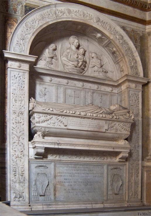 Chiesa di Santa Maria del Popolo - Cappella della Rovere, Da Sangallo, monument van Juan de Castro