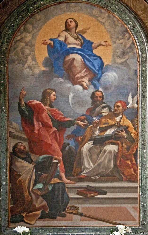 Chiesa di Santa Maria del Popolo - Cappella Cybo, Maratta, Maria onbevlekte ontvangenis met heiligen