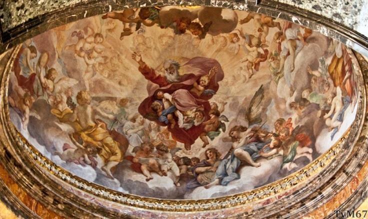 Chiesa di Santa Maria del Popolo - Cappella Cybo, Garzi, koepelfresco