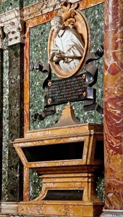 Cappella Cybo, monumenten van de kardinalen: Alderano Cybo (rechts)