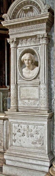 Chiesa di Santa Maria del Popolo - Tussen 2e en 3e kapel rechts, Tenerani, monument van Adèle Julien