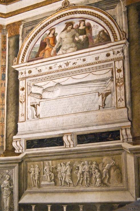 Chiesa di Santa Maria del Popolo - Cappella Basso della Rovere, School van Bregno, monument Girolamo Basso della Rovere