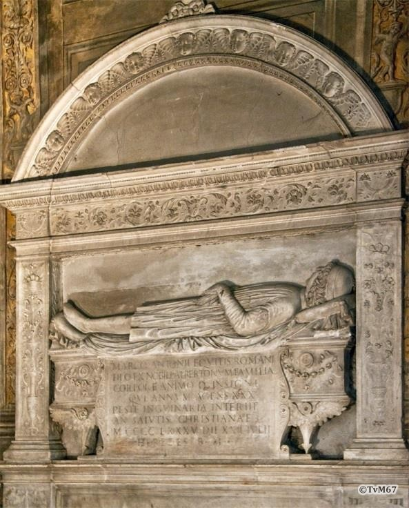 Chiesa di Santa Maria del Popolo-Cappella Costa, Da Firenze, monument voor Albertoni