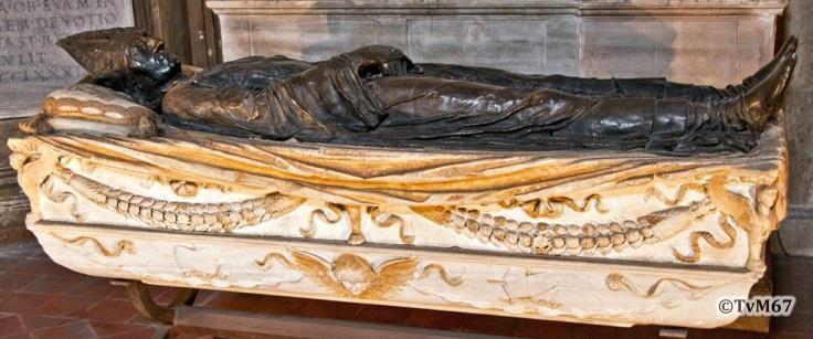 Cappella Costa, Vecchietta, onument voor Foscari