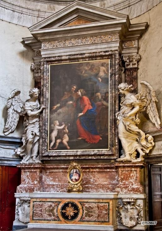 Chiesa di Santa Maria del Popolo - Rechtse transept, School van Bernini, altaar