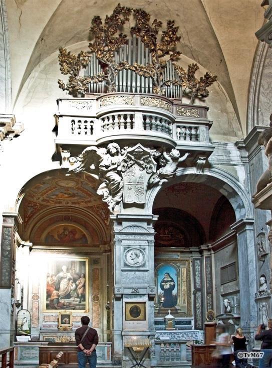 Chiesa di Santa Maria del Popolo - Rechtse transept, Bernini, orgeltribune