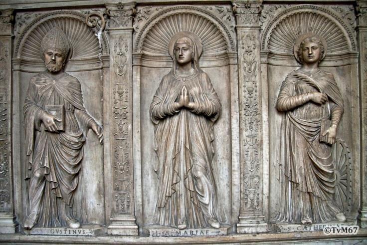 Corridoio, Regno / Caopponi, altaarstuk met Maria tussen Augustinus en Caterina