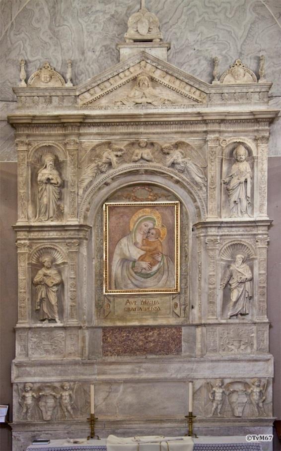 Chiesa di Santa Maria del Popolo-Sagrestia, Bregno, altaar