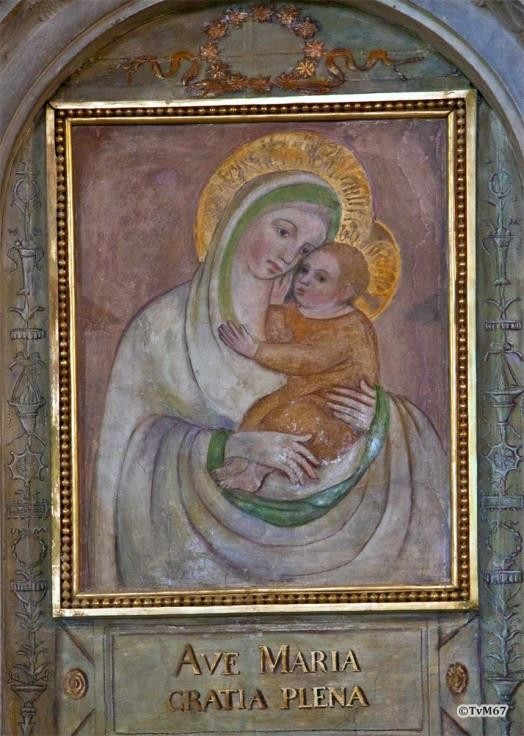 Chiesa di Santa Maria del Popolo Sagrestia, Di Besozzo, Madonna met Kind