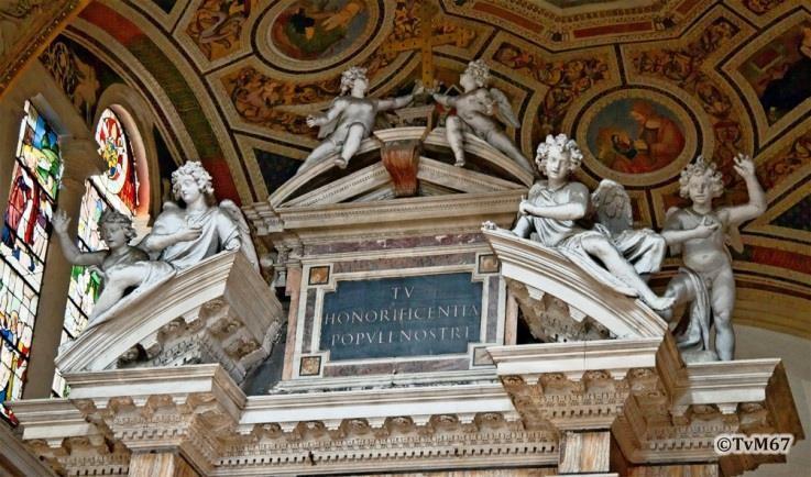 Chiesa di Santa Maria del Popolo - Apsis, Cappella della Madonna, altaarkuif