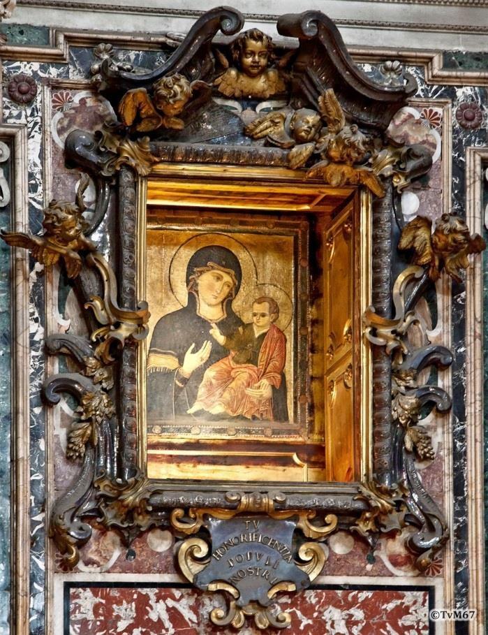 Apsis, Cappella della Madonna, hoogaltaar, Maestro di San Saba, Madonna del Popolo