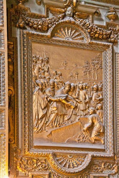 Chiesa di Santa Maria del Popolo - Apsis, Cappella Madonna, Legende van de stichting van de kerk