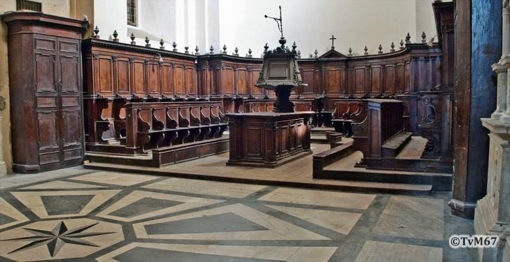 Chiesa di Santa Maria del Popolo-Apsis, Cappella Maggiore, koorbanken