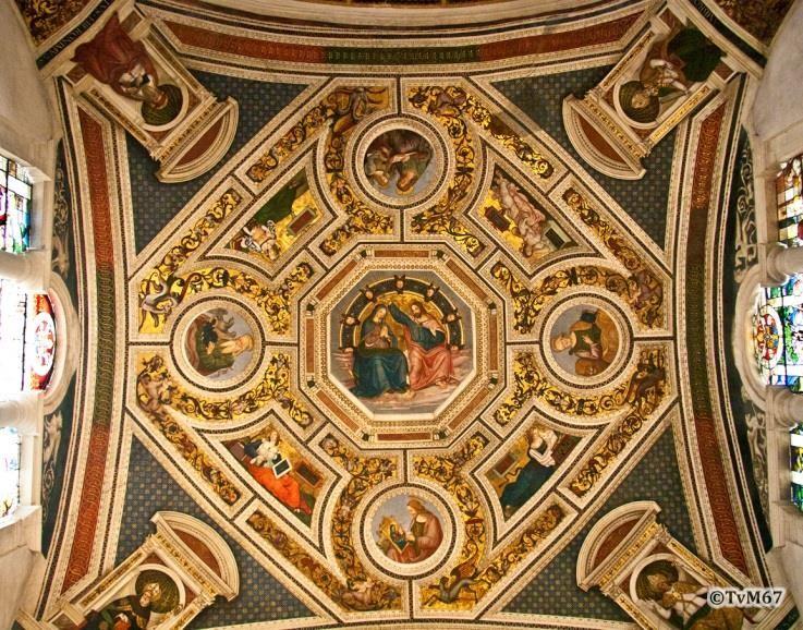 Chiesa di Santa Maria del Popolo-Apsis, Cappella Maggiore, Pinturicchio, kroning van Maria