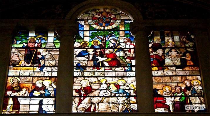 Chiesa di Santa Maria del PopoloApsis, Cappella Maggiore, De Marcillat, gebrandschilderde ramen