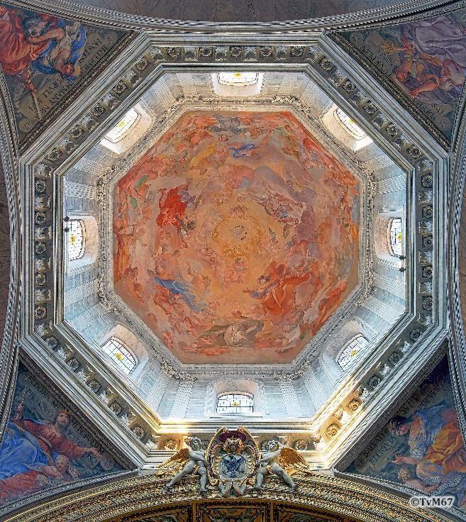 Chiesa di Santa Maria del Popolo-Middenschip, Vanni, koepelfresco