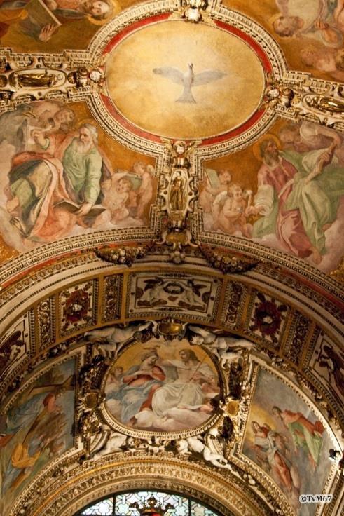 Chiesa di Santa Maria del Popolo-Cappella Cerasi, Ricci en Tacconi, plafondfresco's