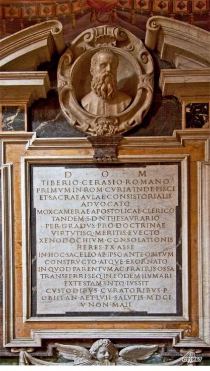 Chiesa di Santa Maria del Popolo-Cappella Cerasi, monument van Tiberio Cerasi