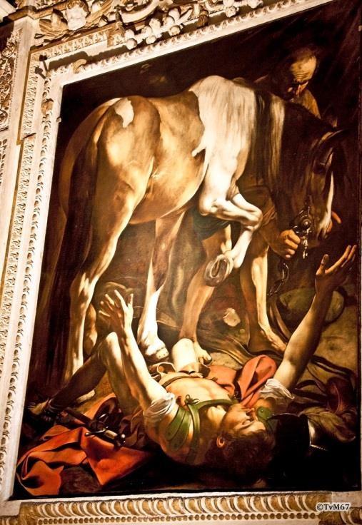 Chiesa di Santa Maria del Popolo-Cappella Cerasi, Caravaggio, bekering van Paulus