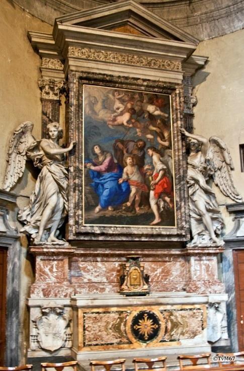 Chiesa di Santa Maria del Popolo-Linkse transept, Bernini, altaar