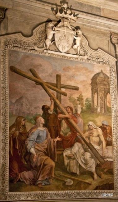 Cappella del Santo Crocifisso, Pieter van Lint, geschiedenis van het Ware Kruis