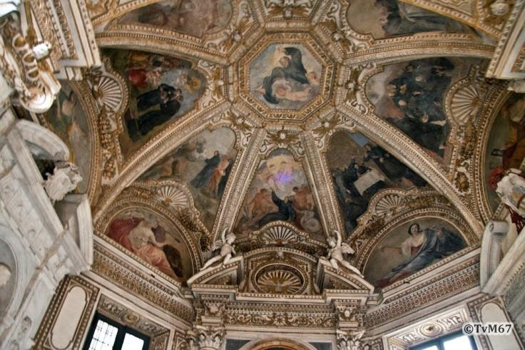 Chiesa di Santa Maria del Popolo - Cappella Mellini, Mannozzi, gewelffresco