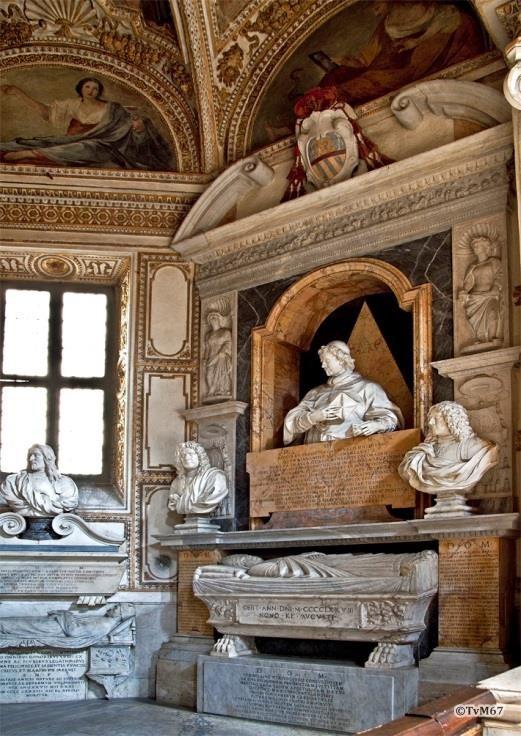 Chiesa di Santa Maria del Popolo -Cappella Mellini, monument van Savo, Pietro, Pietro en Paolo Mellini