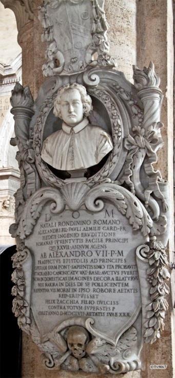 Chiesa di Santa Maria del Popolo - 2e pilaar links, monument voor Rondinini