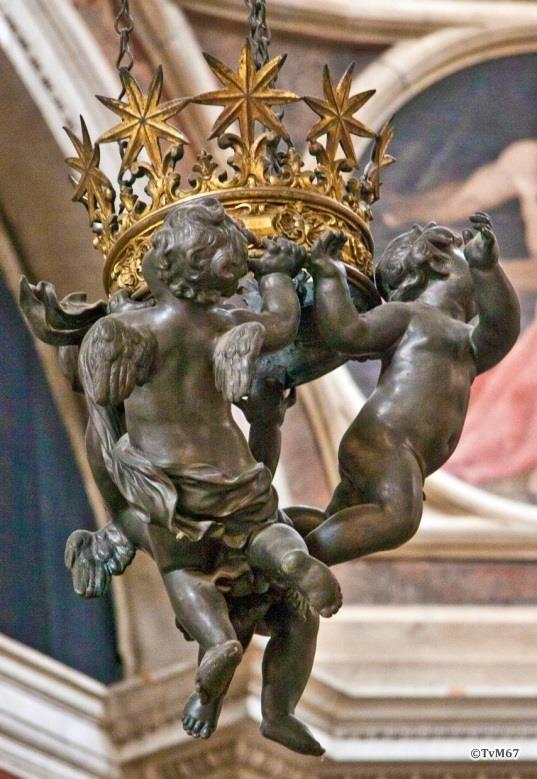 Chiesa di Santa Maria del Popolo - Cappella Chigi, Bernini, hanglamp