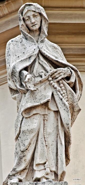 Voorgevel, beeld op de balustrade - Chiesa-di-St-Maria-dei_Miracoli