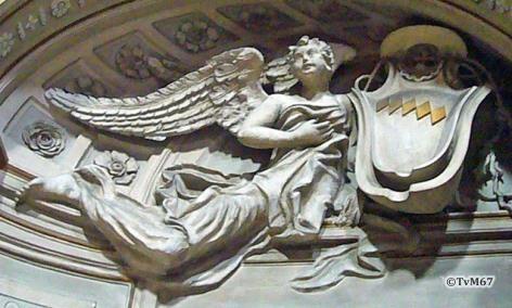 Ingangsgevel, Wapen van Gastaldi - Chiesa-di-St-Maria-dei_Miracoli
