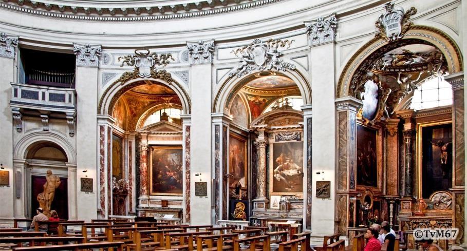 Chiesa-di-St-Maria-di-Montesanto - De drie kapellen rechts