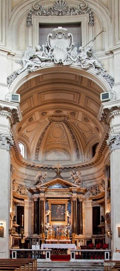 Apsis met hoogaltaar - Chiesa-di-St-Maria-di-Montesanto