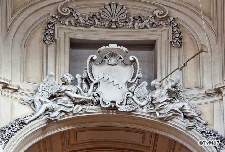 Apsisboog, glorie van kardinaal Gastaldi - Chiesa-di-St-Maria-di-Montesanto