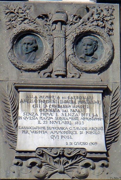 Caserma Giacomo Acqua, herdenkingssteen