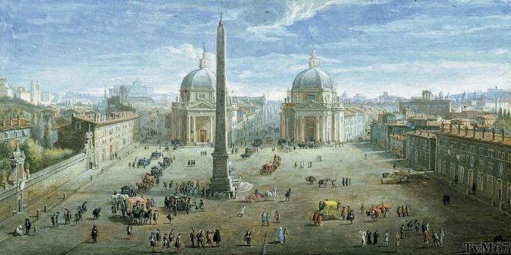 Piazza del Popolo, Caspar van Wittel, 1718