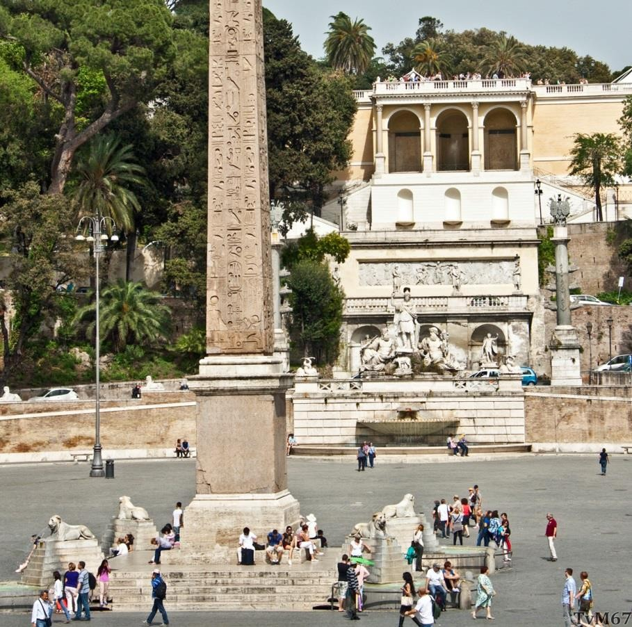 Fontana della Dea di Roma en de opgang naar de Pincio