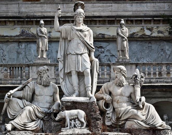 Fontana della Dea Roma, detail