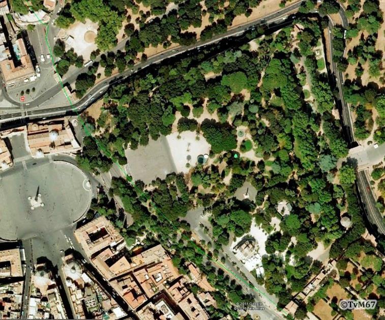 Pincio in het midden en links de Piazza del Popolo