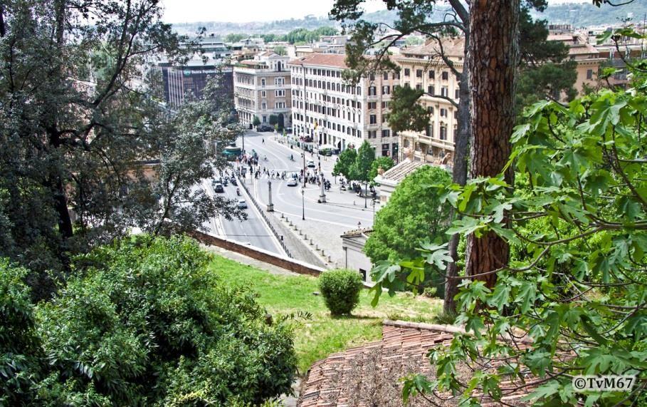Piazzale Flaminio, gezien vanaf de Pincio