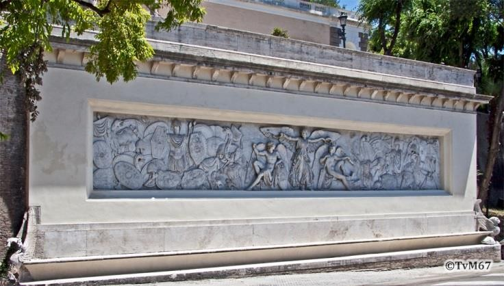 Fontana della Mostra dell'Acqua Vergine, relief