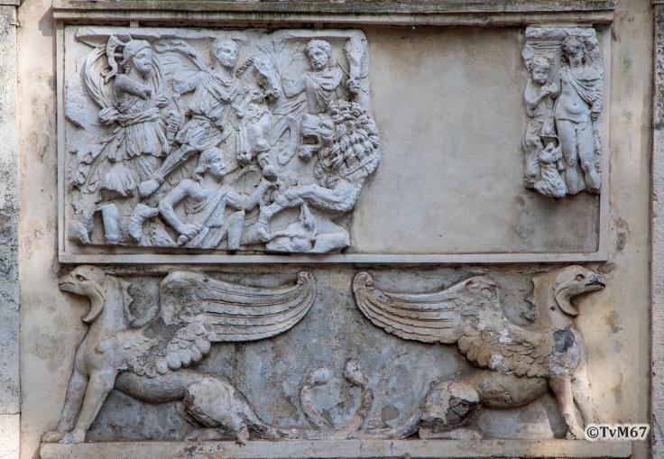 Pincio, antiek reliëf