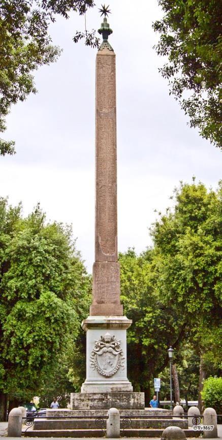 Pincio, Obelisco Pinciano
