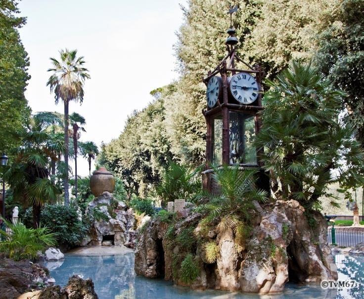 Pincio, Fontana dell'Orologio ad Acqua