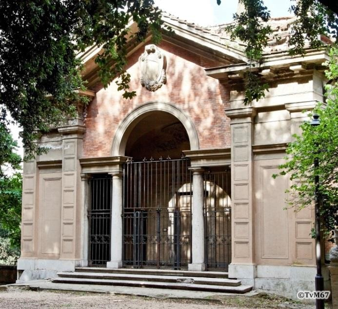 Pincio, Vecchio ascensore, bovenhuis