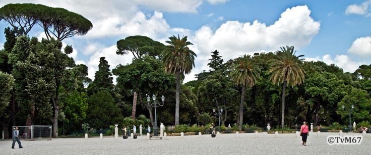 Pincio, Piazzale Napoleone I, overzicht