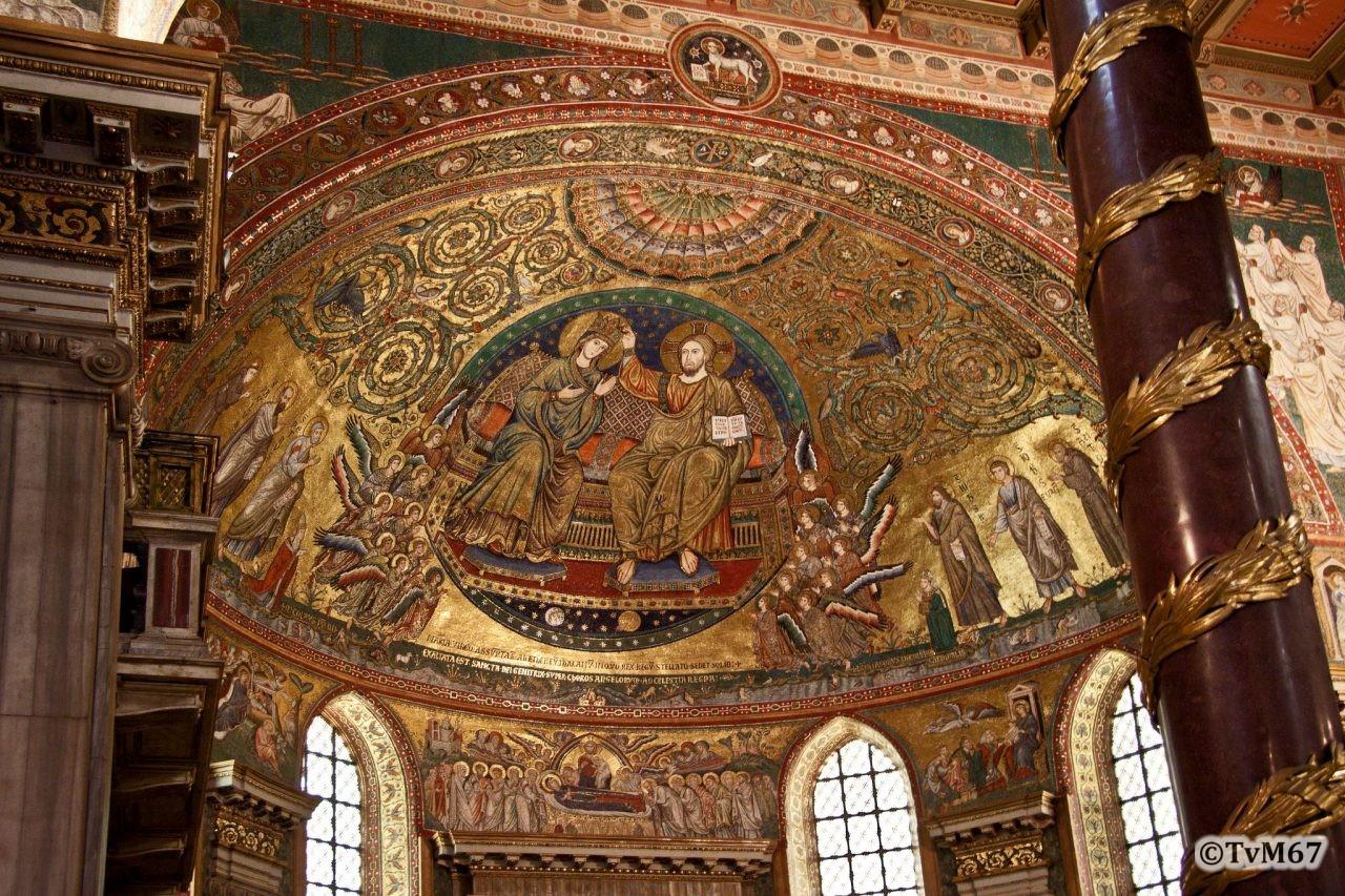 Roma, Basilica di Santa Maria Maggiore, Apsisboog, Mozaïek 2, 2009